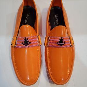 Vivienne Westwood orange rubber loafers mens 42